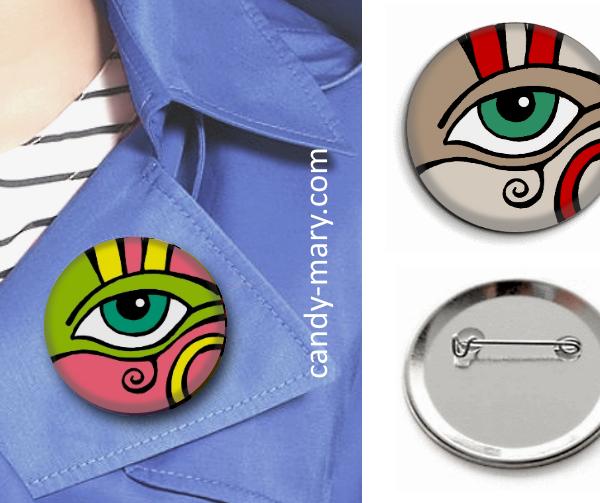 Badges- Oeil